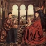 La vierge au chancelier Rolin Jan Van Eyck Musee du Louvre