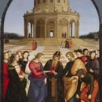 Mariage de la vierge Raphaël Sanzio 1504 huile sur bois 170x117 cm Milan Pinacoteca di Brera