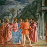 Masaccio Le tribut fresque Chapelle Brancacci Eglise Santa Maria del Carmine Florence