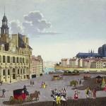 Place de l'hôtel de ville au XIXème siècle Henri Courvoisier-Voisin © Bridgeman Art Library / Bibliotheque des Arts Decoratifs, Paris, France / Archives Charmet