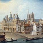 Raguenet Nicolas Jean Baptiste Hotel de Ville et Place de Greve en 1753 Musee Carnavalet