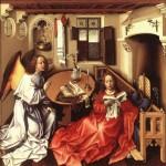Robert Campin dit le Maitre de Flemalle 1427 Tryptique de Merode MET Museum New York