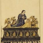 Tombeau du roi Charles VIII Coll de Gaignieres GALLICA BNF recueils de Gaignières (tombeaux, volume 2 folio 48)