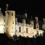 Vue du Logis royal de Loches la nuit Site Patrimoine Histoire