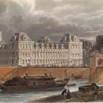 Hôtel de ville Paris Dessin Eugene Lami Gravure J C Varrall 1843