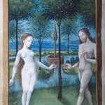 Adam et Eve MS 677 Folio 48 Heures Anne de Beaujeu Jean Colombe Pierpont Morgan Library