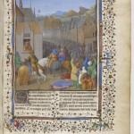 Jean Bourdichon Flavius Josephe, Les Antiquités judaiques Français 247 F. entree triomphale à Jérusalem d'Antiochus Epiphane Folio 248r BNF