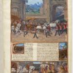 Jean Colombe Faits des Romains aux armes de la famille Le Peley Ms Français 22540 Folio 1r BNF