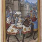 Jean Marot le voyage de Gênes Jean Bourdichon Département des Manuscrits, Français 5091 Folio 15v BNF