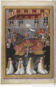 Jean Marot le voyage de Gênes Département des Manuscrits, Français 5091 Folio 22v BNF