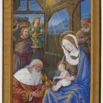 L'adoration des mages Jean Bourdichon Musee du Louvre Heures de Louis XII Photo RMN Musee du Louvre Thierry Le Mage