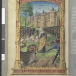 La Tarasque 317v Ms Latin 920 Heures de Laval BNF