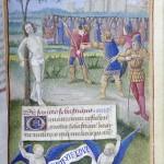 Le martyr de Saint Sebastien Heures de Jean RobertetMS M.0834, fol. 095r Bourges, France, ca. 1470 Pierpont Morgan Library