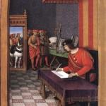 Louis XII ecrivant a Anne de Bretagne Épitres de poètes royaux folio 51v Fr Fv XIV 8 Bibliothèque Nationale de Russie St Petersburg