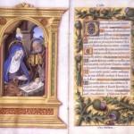 Nativité Jean Bourdichon Livre d'heures MS M.732, fols. 31v–32r ca 1515 Pierpont Morgan Library