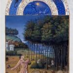Le mois de novembre Jean Colombe 1485 Folio 11v Très riches heures du duc de Berry N° d'inventaire Ms65 Photo (C) RMN-Hauteur : 0.29 mLargeur : 0.21 m Grand Palais (domaine de Chantilly) / René-Gabriel Ojéda Chantilly, musée Condé