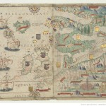 Europe du nord Atlas nautique du Monde, dit atlas Miller Homem, Lopo. Cartographe 1519 Bibliothèque nationale de France, [Ge D 26179 Rés]