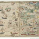 Europe du nord Atlas nautique du Monde, dit atlas Miller Homem, Lopo. Cartographe 1519 Bibliothèque nationale de France, [Ge D 26179 Rés]