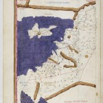Carte de Chypre par Claudius Ptolomaeus , Cosmographia , Jacobus Angelus traducteur Folio 108v Bibliothèque nationale de France, Département des manuscrits, Latin 4802