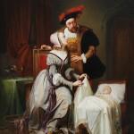 CharlesQuint et sa fille naturelle Marguerite qu'il avait eue de Johanna van der Gheynst par Theodore Joseph Canneel (1817 1892) tableau du musee des Beaux Arts de Gand