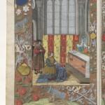 Claudius Ptolemaeus , Cosmographia La miniature centrale serait dûe à Jean Bourdichon d'après Paul Durrieu Latin 4804 Folio 1v Collection de Gruuthuyse BNF