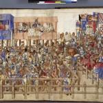 Roi René d'Anjou Livre des tournois Combat des tournoyeurs Français 2695, fol. 100v-101, BNF Visualiseur Mandragore