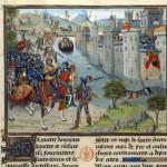 Maitre de Marie de Bourgogne Francais 22547 fol 58v Siege de Tyr BNF base Mandragore