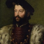 "Portrait attribué à Hercule II d Este ""Portrait of a bearded man, bust-length, in a fur-trimmed robe and black hat, with the Order of Saint Michael,"" by Nicolo Dell'Abate"" Collection privée Vente Christie's du 10 janvier 2009"