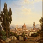 Albert Emil Kirchner (1813-1885) View Of Florence (1865)