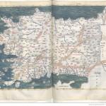 Claudius Ptolemaeus , Cosmographia , Jacobus Angelus par Claudius Ptolemaeus (0100-0170)Librairie royale de Blois, Latin 4804 Folios 132v-133r
