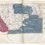Claudius Ptolemaeus , Cosmographia , Jacobus Angelus par Claudius Ptolemaeus (0100-0170)Librairie royale de Blois, Latin 4804 Folios 142v-143r