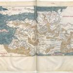 Claudius Ptolemaeus , Cosmographia , Jacobus Angelus par Claudius Ptolemaeus (0100-0170)Librairie royale de Blois, Latin 4804 Folios 158v-159r