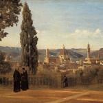Jean-Baptiste-Camille Corot (1796-1875) Vue De Florence Depuis Le Jardin De Boboli (1834)