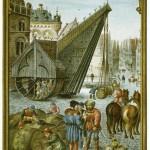 Le Marché de vin à Bruges Bening Simon (vers 1483-1561) Allemagne, Munich, Bayerische Staatsbibliothek, Abteilung Karten und Bilder