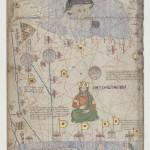 Asie occidentale : mer Caspienne et golfe Persique Atlas catalan Attribué à Abraham Cresques, 1375. Folio 18 Manuscrit enluminé sur parchemin, 12 demi-feuilles de 64 x 25 cm chacune BnF, département des Manuscrits, Espagnol 30, tableau IV