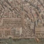 Tableau carte Vue de Venise à vol d oiseau au 17ème siècle Inventaire n° MV7044 Versailles, châteaux de Versailles et de Trianon