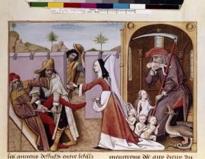 Saturne dévorant ses enfants Fr 143 Folio 28 r BNF