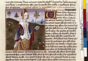 Boccace De mulieribus claris Traduction Laurent de Premierfait Illustrations Robinet Testard Français 599, fol. 10, Vénus BNF