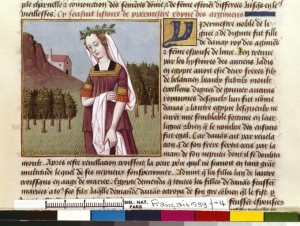 Boccace De mulieribus claris Traduction Laurent de Premierfait Illustrations Robinet Testard Français 599, fol. 14, Hypermestre BNF