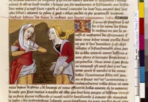 Boccace De mulieribus claris Traduction Laurent de Premierfait Illustrations Robinet Testard Français 599, fol. 26, Lamentations des Minyennes BNF