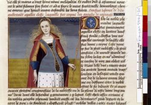 Boccace De mulieribus claris Traduction Laurent de Premierfait Illustrations Robinet Testard Français 599, fol. 36, Didon BNF