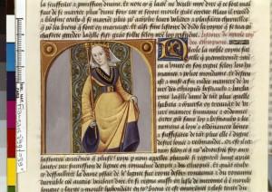 Boccace De mulieribus claris Traduction Laurent de Premierfait Illustrations Robinet Testard Français 599, fol. 39v, Reine de Saba BNF