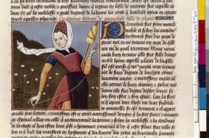 Boccace De mulieribus claris Traduction Laurent de Premierfait Illustrations Robinet Testard Français 599, fol. 40, Pamphilè de Kos BNF