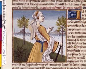 Boccace De mulieribus claris Traduction Laurent de Premierfait Illustrations Robinet Testard Français 599, fol. 41v, Tanaquil BNF