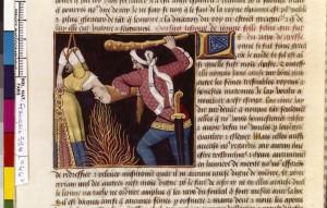 Boccace De mulieribus claris Traduction Laurent de Premierfait Illustrations Robinet Testard Français 599, fol. 44v, Supplice de Leaena BNF