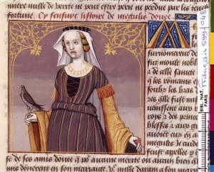 Boccace De mulieribus claris Traduction Laurent de Premierfait Illustrations Robinet Testard Français 599, fol. 48, Megullia BNF