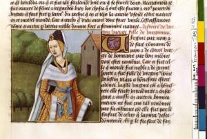 Boccace De mulieribus claris Traduction Laurent de Premierfait Illustrations Robinet Testard FrançaisFrançais 599, fol. 52, Virginia BNF