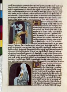 Boccace De mulieribus claris Traduction Laurent de Premierfait Illustrations Robinet Testard FrançaisFrançais 599, fol. 53v, Eirènè peignant Leontion BNF