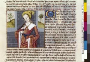 Boccace De mulieribus claris Traduction Laurent de Premierfait Illustrations Robinet Testard Français 599, fol. 55, Claudia BNF