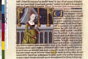 Boccace De mulieribus claris Traduction Laurent de Premierfait Illustrations Robinet Testard FrançaisFrançais 599, fol. 55v, Verginia BNF